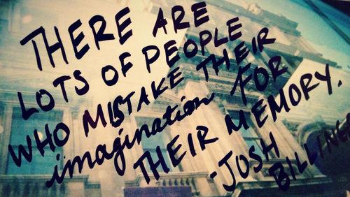 imagination vs. memory
